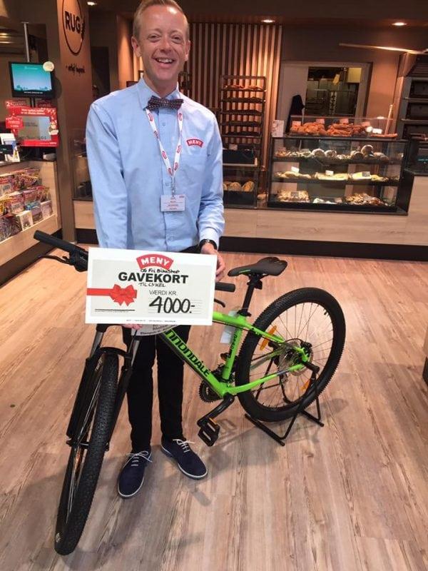 Vind cykel til 4000 kr. med MENY