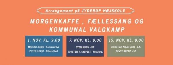 Kommunal valgkamp på Jyderup Højskole