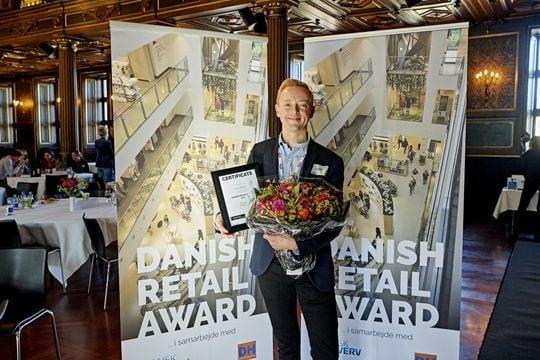 Dette års Danish Retail Award gik i år til købmand Peter Egebæk fra MENY i Kalundborg
