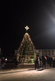 Kalundborg med julelys