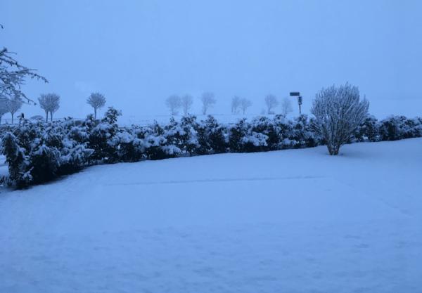 Sne over Svallerup