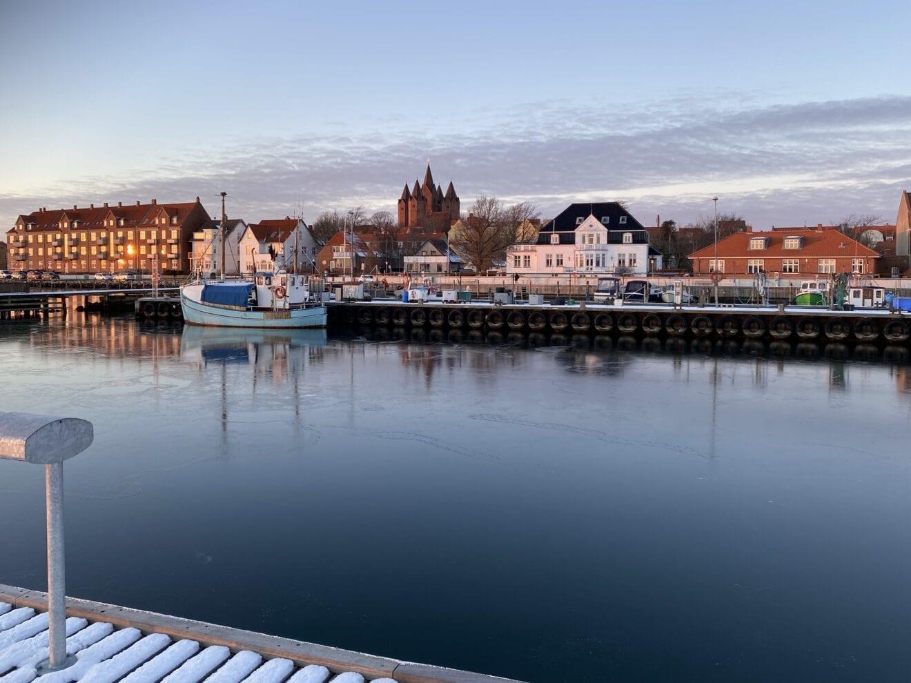 Smuk eftermiddag ved Kalundborg Havn
